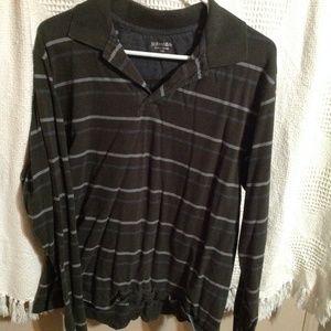 Mens Polo 1/2 button down shirt